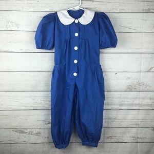 Vintage Handmade Blue Romper Girl's Size 5?